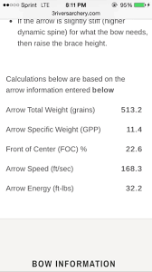 3 Rivers Archery Spine Calc Accurate