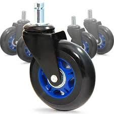 revosmooth soft rubber office chair wheels casters replacement rollerblade style for hardwood floor carpet