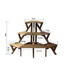 wooden plant stands outdoor ha 3 tier fir wood corner plant stand pot rack for indoor wooden plant stands outdoor