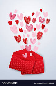 cute hearts valentines day vector image