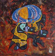 hindu lord shiva oil painting abstract art
