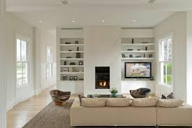 built in shelves around fireplace living room traditional