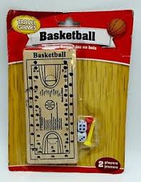 Wooden Basketball Game Wooden Basketball Travel Game 100 players NBA NCAA peg dice New 80