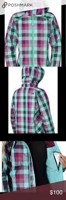The Northface Womens Jacket Plaid Details And Size Chart