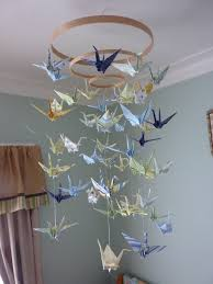 Paper Chandelier Dim Did It Myself Baby Origami Paper Crane Mobile Chandelier