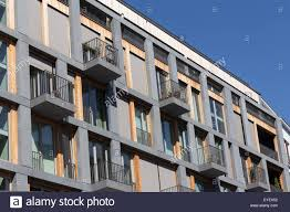 Modern Residential Building Facade Berlin Kreuzberg Stock Photo - Modern apartment building facade