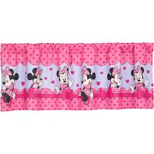 Mickey Mouse Bedroom Curtains Disney Minnie Mouse Bow Power Girls Bedroom Curtain Valance