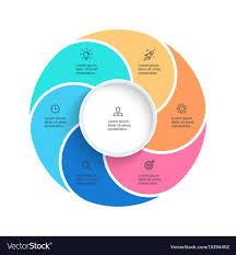 6 Piece Pie Chart Template Pie Chart Presentation Template With 6