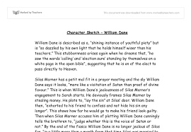 character sketch william dane gcse english marked by  document image preview