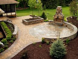 Small Picture Stone fireplace and NY Bluestone flagstone paver patio with