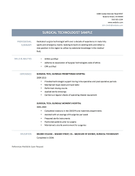 Surgical Technologist Resume Surgical Tech Resume Enderrealtyparkco 1