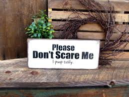 bathroom wooden signs