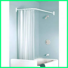 curtain charming l shaped shower incredible corner rectangular rod bed and special pic rail way use