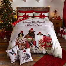 catherine lansfield party animals cotton rich duvet cover set gold double linens limited