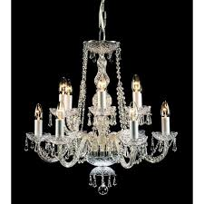 modra 12 light georgian style crystal chandelier fitting with strass crystal