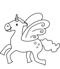 Disegno Di Unicorno Che Vola Da Colorare Disegni Da Colorare E
