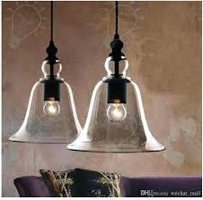 glass bell pendant light new antique vintage style glass shade ceiling light bell pendant light retro