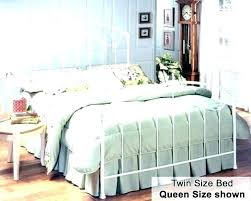 White Wrought Iron Bed Frame Queen Home Improvement Mo Contact ...