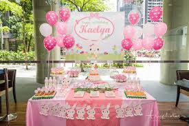 Pink theme cool bar Chocolate Fountain Overview Of The Birthday Party Dessert Table Filled With Candies And Snacks Truphotos Cute Rabbit Theme Birthday Party Dessert Table At The Bank Bar