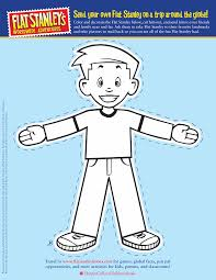 Flat Stanley Printable Flat Stanleys Template From The Flat Stanley Books Site