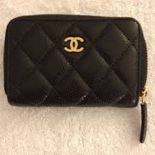 chanel key pouch. authentic chanel o-coin purse. key card holderchanel pouch
