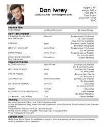 Resume Template Breathtaking Kid Acting Resume Samples Sample No