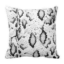 Black and White Modern <b>Snakeskin Pattern</b> Pillow - black and white ...