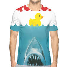 Rubber Duck Size Chart Nicokee 3d Print T Shirt Rubber Duck Be Care For The Shark