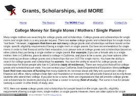 college money for single moms mothers single parent