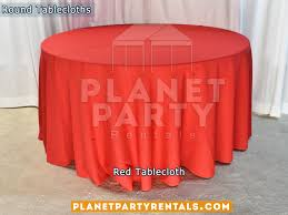 red tablecloth for 60 round table