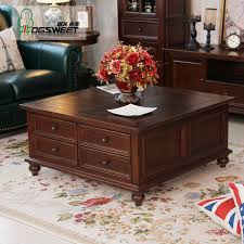 4 large ash wood coffee table storage small square wooden living room side teasideend