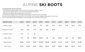 52 Systematic Downhill Ski Boots Size Chart