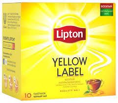<b>Чай черный Lipton</b> Yellow label в пакетиках — купить по выгодной ...