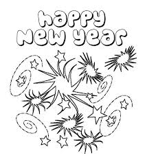 Small Picture New Years Eve with Lots of Fireworks Coloring Page Download