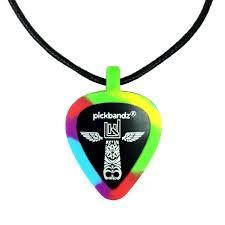 tie dye pickbandz guitar pick holder pick necklace just pop in your custom guitar picks and rock on