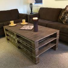 Pallet Coffee Table With Storage Plans Image Of Build A Rustic Pallet Coffee Table Plans