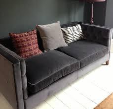 Furniture Grey Velvet Sofa Uk Unique On Furniture Intended For Gray