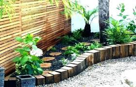 garden edging manna gum building and