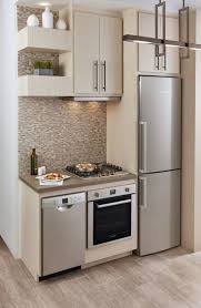 fridge in kitchen. kitchen room : double wall oven cabinet no space for fridge in and microwave placement island