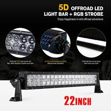 details about 5d 22 280w cree led rock light bar green multicolor suv hunting 20 app control