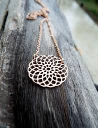 flower of life seed of life pendant rose gold handmade protection stainless steel ancient symbol necklace