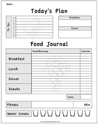 Daily Food Intake Chart 64 True To Life Food And Activity Chart