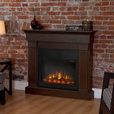 image of simple decor flame electric fireplace