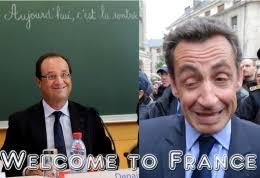 """L'""""onda blu"""" di fine marzo è un risultato confortante per i post-gollisti dell'UMP, dovuto però più al crollo del PS e all'impopolarità di Hollande, ... - hollandesarkozy"""