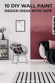 wall paint design ideas with tape 10