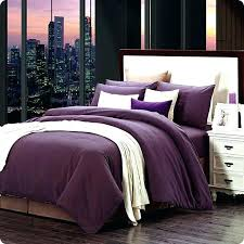 purple bedding sets full size modern home textile cotton sanding solid dark print brief bed set