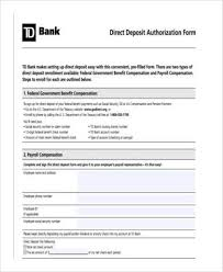 Direct Deposit Authorization Form Classy Sample Direct Deposit Authorization Forms 44 Free Documents In