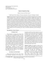 Reactive Hepatitis in Dogs - Idosi.org