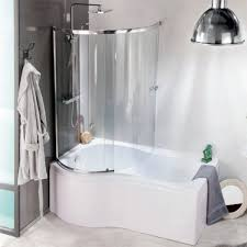 p shaped bath gives you the best of both worlds shower screen included fits your p shape bathtub li scratch resistant resists wear and tear water resistant