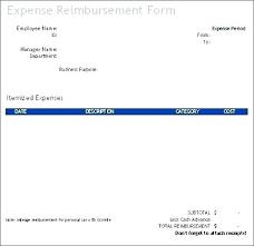 Expense Reimbursement Template Classy Travel Expense Reimbursement Form Template Cokolade